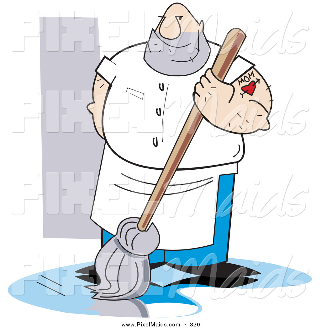 Dirty Rag Clipart Mopping a Dirty Floor