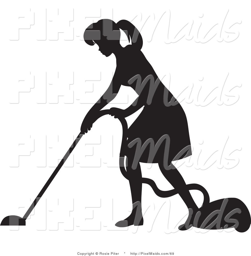 Woman Vacuuming Stock Illustrations  Royalty Free  GoGraph