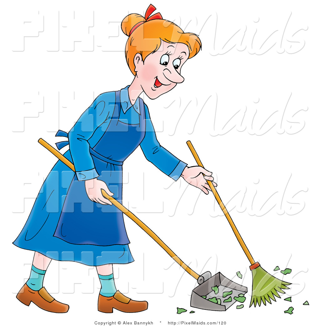Royalty Free Sweeping Stock Maid Designs
