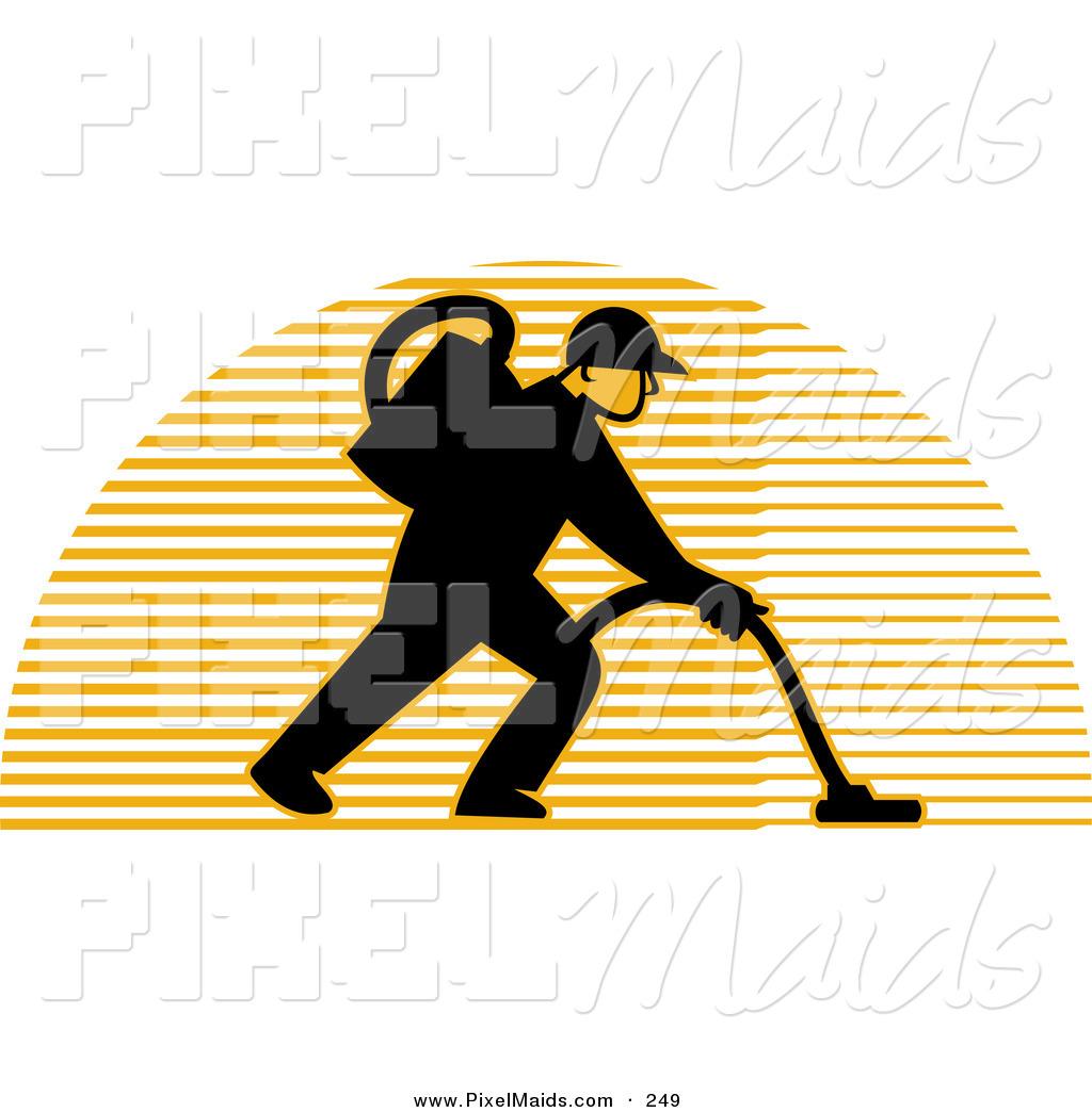 cleaning man logo