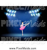 Clipart of a Ballerina Dancing on Stage by Graphics RF