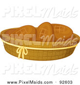 Clipart of a Basket of Bread Rolls by Graphics RF