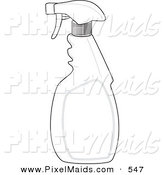Clipart of a Black and White Spray Bottle Outline Design by Patrimonio