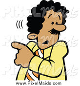 Clipart of a Businessman Worried About Something by Johnny Sajem