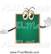 Clipart of a Chalkboard Character Gesturing Ok by Graphics RF