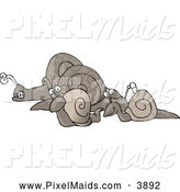 Clipart of a Group of Slowly Travelling Snails by Djart