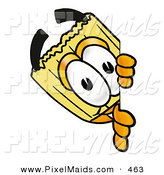 Clipart of a Happy Broom Mascot Cartoon Character Peeking Around a Corner by Toons4Biz