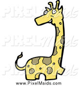 Clipart of a Happy Giraffe by Lineartestpilot