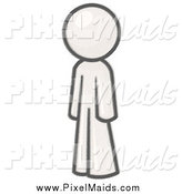 Clipart of a Man Standing and Facing Left by Leo Blanchette