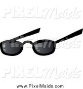 Clipart of a Pair Sunglasses by Hit Toon