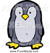 Clipart of a Penguin Bird by Lineartestpilot