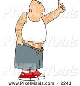 Clipart of a Punk Gangster Man with Tattoos by Djart