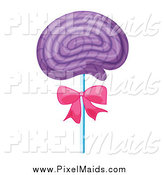 Clipart of a Purple Candy Lolipop Sucker by Graphics RF