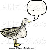 Clipart of a Talking Bird by Lineartestpilot