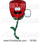 Clipart of a Talking Red Rose by Cory Thoman