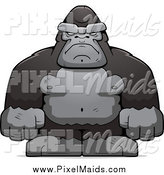 Clipart of a Tough Ape by Cory Thoman