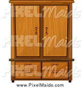 Clipart of a Wardrobe Armoire Closet by Graphics RF