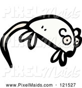 Clipart of a White Mouse by Lineartestpilot