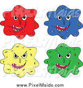 Clipart of Colorful Virus Bacteria Germs by Graphics RF