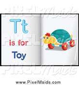 Clipart of Letter T Is for Toy Pages by Graphics RF