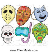 October 3rd, 2014: Clipart of Various Masks by Visekart