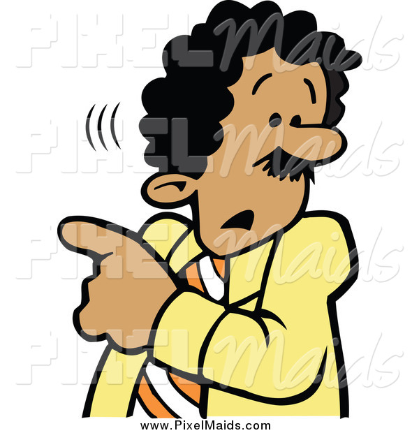 Clipart of a Businessman Worried About Something