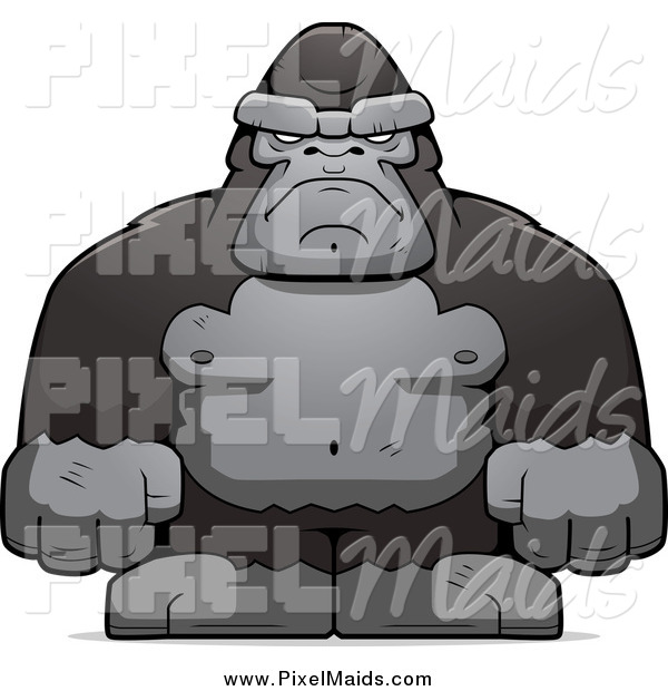 Clipart of a Tough Ape