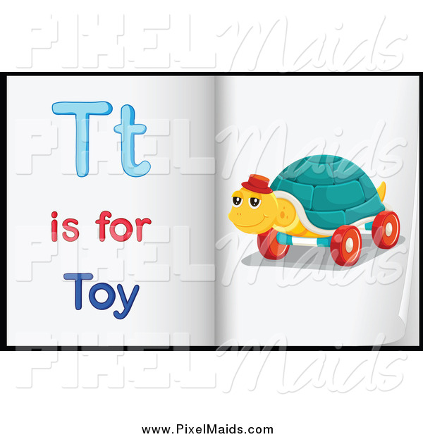 Clipart of Letter T Is for Toy Pages
