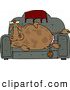 Clipart of a Couch Potato Cow Resting by Djart