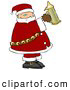 Clipart of a Depressed Santa Holding a Beer Stein by Djart