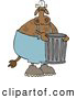 Clipart of a Garbageman Cow, on White by Djart