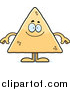 Clipart of a Happy Tortilla Chip by Cory Thoman