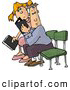 Clipart of a Pair of People Seated with Bibles by Djart