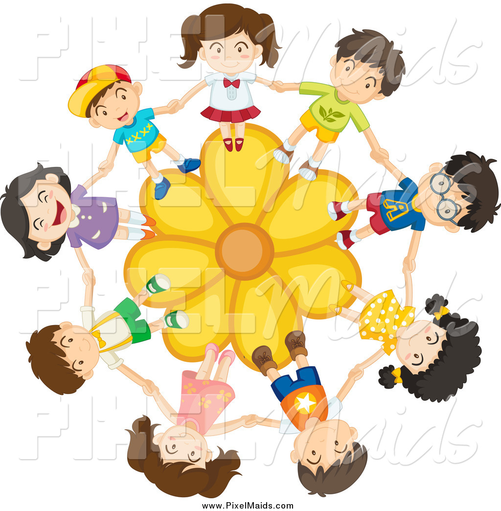 Clipart of a children holding hands on a yellow daisy flower by clipart of a children holding hands on a yellow daisy flower izmirmasajfo Gallery