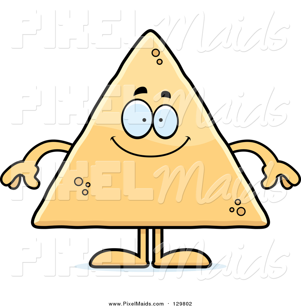 clipart of a happy tortilla chip by cory thoman 129802 rh pixelmaids com clipart of women clipart of man