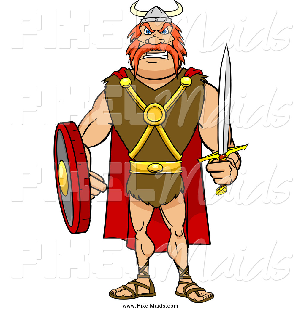 Sword warrior. Clipart of a tough